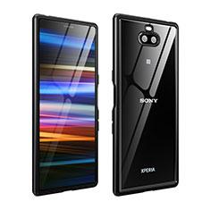 Sony Xperia 10 Plus用ケース 高級感 手触り良い アルミメタル 製の金属製 バンパー カバー ソニー ブラック