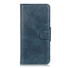 Sony Xperia 5用手帳型 レザーケース スタンド カバー ソニー ネイビー