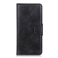 Sony Xperia 5用手帳型 レザーケース スタンド カバー ソニー ブラック