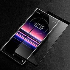 Sony Xperia 5 II用強化ガラス フル液晶保護フィルム ソニー ブラック