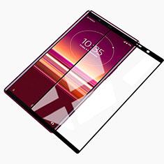 Sony Xperia 5用強化ガラス フル液晶保護フィルム ソニー ブラック