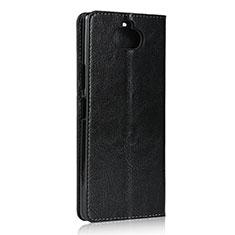 Sony Xperia 8 Lite用手帳型 レザーケース スタンド カバー ソニー ブラック