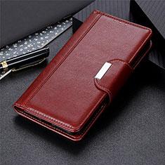 Sony Xperia 8 Lite用手帳型 レザーケース スタンド カバー L03 ソニー ブラウン