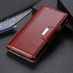 Sony Xperia 8 Lite用手帳型 レザーケース スタンド カバー L04 ソニー ブラウン