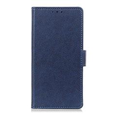 Sony Xperia 8 Lite用手帳型 レザーケース スタンド カバー L05 ソニー ネイビー