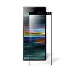 Sony Xperia 8 Lite用強化ガラス フル液晶保護フィルム ソニー ブラック