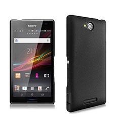 Sony Xperia C S39h用ハードケース プラスチック 質感もマット ソニー ブラック