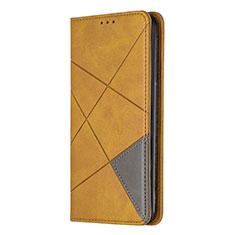 Sony Xperia L4用手帳型 レザーケース スタンド カバー L01 ソニー イエロー