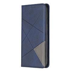 Sony Xperia L4用手帳型 レザーケース スタンド カバー L01 ソニー ネイビー