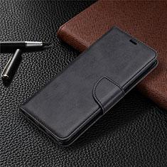 Sony Xperia L4用手帳型 レザーケース スタンド カバー L03 ソニー ブラック