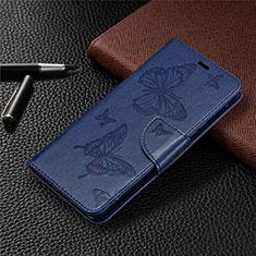 Sony Xperia L4用手帳型 レザーケース スタンド カバー L04 ソニー ネイビー