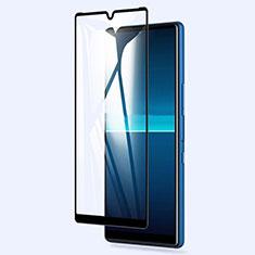 Sony Xperia L4用強化ガラス フル液晶保護フィルム ソニー ブラック