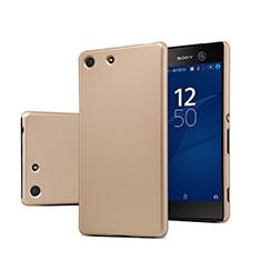 Sony Xperia M5用ハードケース プラスチック 質感もマット ソニー ゴールド