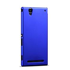 Sony Xperia T2 Ultra Dual用ハードケース プラスチック 質感もマット ソニー ネイビー