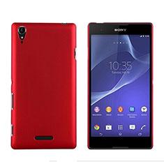 Sony Xperia T3用ハードケース プラスチック 質感もマット ソニー レッド