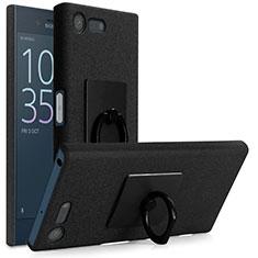 Sony Xperia X Compact用ハードケース カバー プラスチック アンド指輪 ソニー ブラック