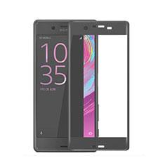 Sony Xperia X用強化ガラス フル液晶保護フィルム ソニー ブラック