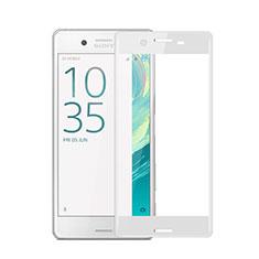 Sony Xperia X用強化ガラス フル液晶保護フィルム ソニー ホワイト