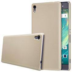 Sony Xperia XA Ultra用ハードケース プラスチック 質感もマット ソニー ゴールド