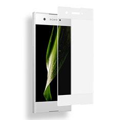 Sony Xperia XA1用強化ガラス フル液晶保護フィルム ソニー ホワイト