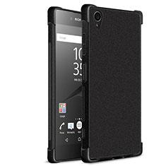 Sony Xperia XA1 Plus用シリコンケース ソフトタッチラバー カバー ソニー ブラック