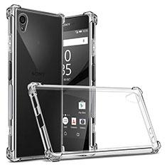 Sony Xperia XA1 Plus用極薄ソフトケース シリコンケース 耐衝撃 全面保護 クリア透明 カバー ソニー クリア