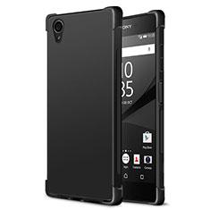 Sony Xperia XA1 Plus用シリコンケース ソフトタッチラバー ソニー ブラック