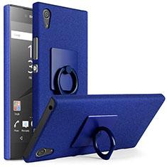 Sony Xperia XA1 Plus用ハードケース カバー プラスチック アンド指輪 ソニー ネイビー