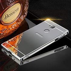 Sony Xperia XA2用ケース 高級感 手触り良い アルミメタル 製の金属製 カバー ソニー グレー