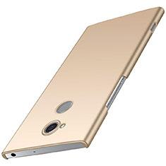 Sony Xperia XA2 Plus用ハードケース プラスチック 質感もマット M01 ソニー ゴールド