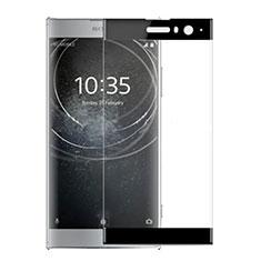 Sony Xperia XA2 Plus用強化ガラス フル液晶保護フィルム ソニー ブラック