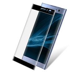 Sony Xperia XA2 Plus用強化ガラス フル液晶保護フィルム F02 ソニー ブラック