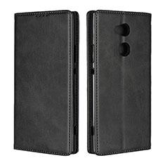 Sony Xperia XA2 Ultra用手帳型 レザーケース スタンド カバー L01 ソニー ブラック