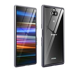 Sony Xperia XA3 Ultra用ケース 高級感 手触り良い アルミメタル 製の金属製 バンパー カバー ソニー グレー