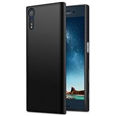 Sony Xperia XZ用シリコンケース ソフトタッチラバー ソニー ブラック