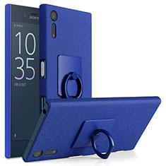 Sony Xperia XZ用ハードケース カバー プラスチック アンド指輪 ソニー ネイビー