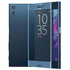 Sony Xperia XZ用強化ガラス フル液晶保護フィルム ソニー ネイビー