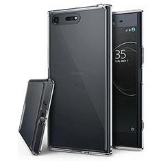 Sony Xperia XZ Premium用極薄ソフトケース シリコンケース 耐衝撃 全面保護 クリア透明 T03 ソニー クリア