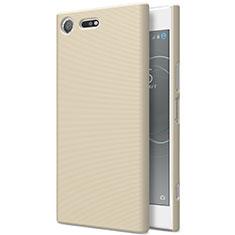 Sony Xperia XZ Premium用ハードケース プラスチック 質感もマット ソニー ゴールド
