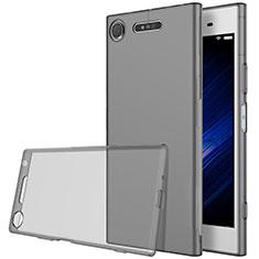 Sony Xperia XZ1用極薄ソフトケース シリコンケース 耐衝撃 全面保護 クリア透明 ソニー グレー