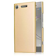 Sony Xperia XZ1用ハードケース プラスチック 質感もマット M01 ソニー ゴールド