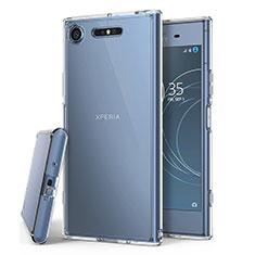 Sony Xperia XZ1用極薄ソフトケース シリコンケース 耐衝撃 全面保護 クリア透明 T02 ソニー クリア