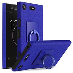 Sony Xperia XZ1 Compact用ハードケース カバー プラスチック アンド指輪 ソニー ネイビー