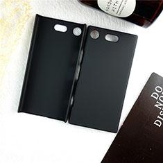 Sony Xperia XZ1 Compact用ハードケース プラスチック 質感もマット M01 ソニー ブラック