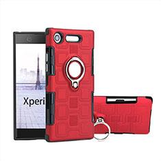 Sony Xperia XZ1 Compact用ハイブリットバンパーケース プラスチック アンド指輪 S01 ソニー レッド