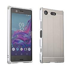 Sony Xperia XZ1 Compact用ケース 高級感 手触り良い アルミメタル 製の金属製 カバー ソニー シルバー