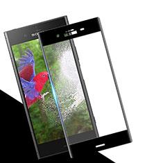 Sony Xperia XZ1用強化ガラス フル液晶保護フィルム ソニー ブラック