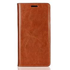 Sony Xperia XZ2用手帳型 レザーケース スタンド カバー ソニー オレンジ