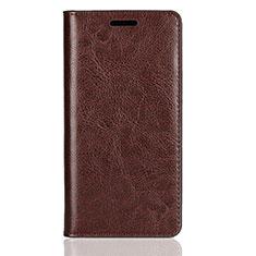 Sony Xperia XZ2 Compact用手帳型 レザーケース スタンド カバー L01 ソニー ブラウン