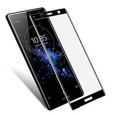 Sony Xperia XZ2 Compact用強化ガラス フル液晶保護フィルム F03 ソニー ブラック